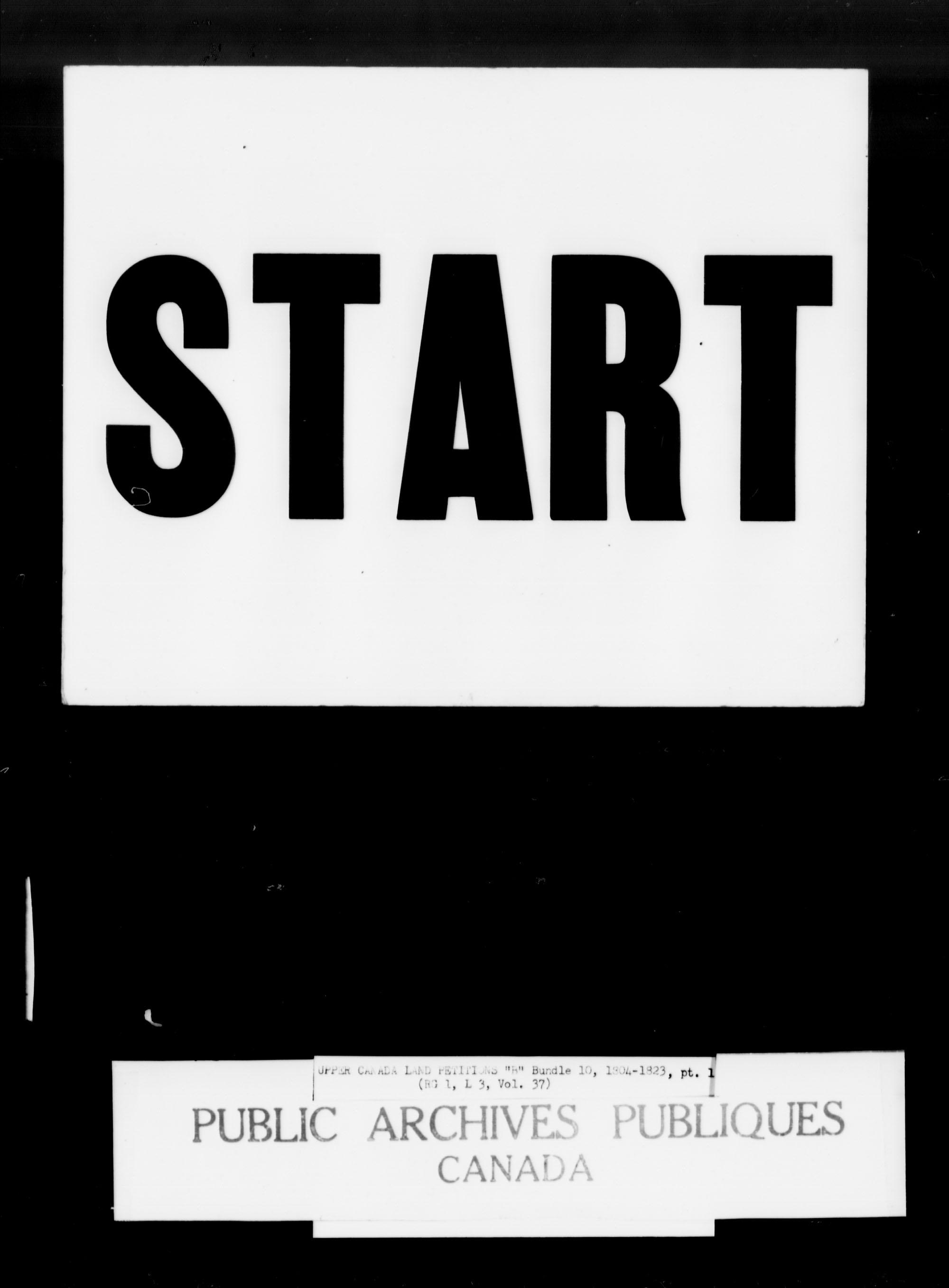 Titre: Demandes de terres du Haut-Canada (1763-1865) - N° d'enregistrement Mikan: 205131 - Microforme: c-1623