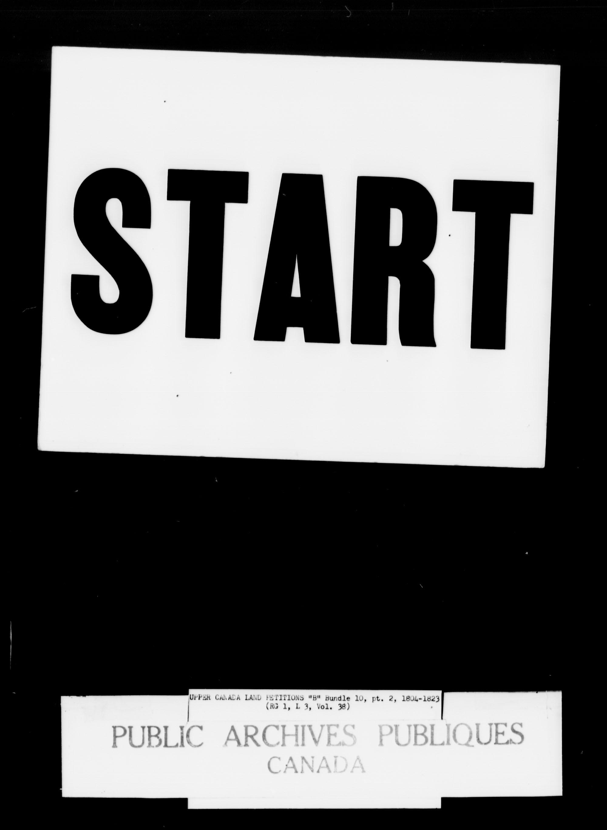 Titre: Demandes de terres du Haut-Canada (1763-1865) - N° d'enregistrement Mikan: 205131 - Microforme: c-1624