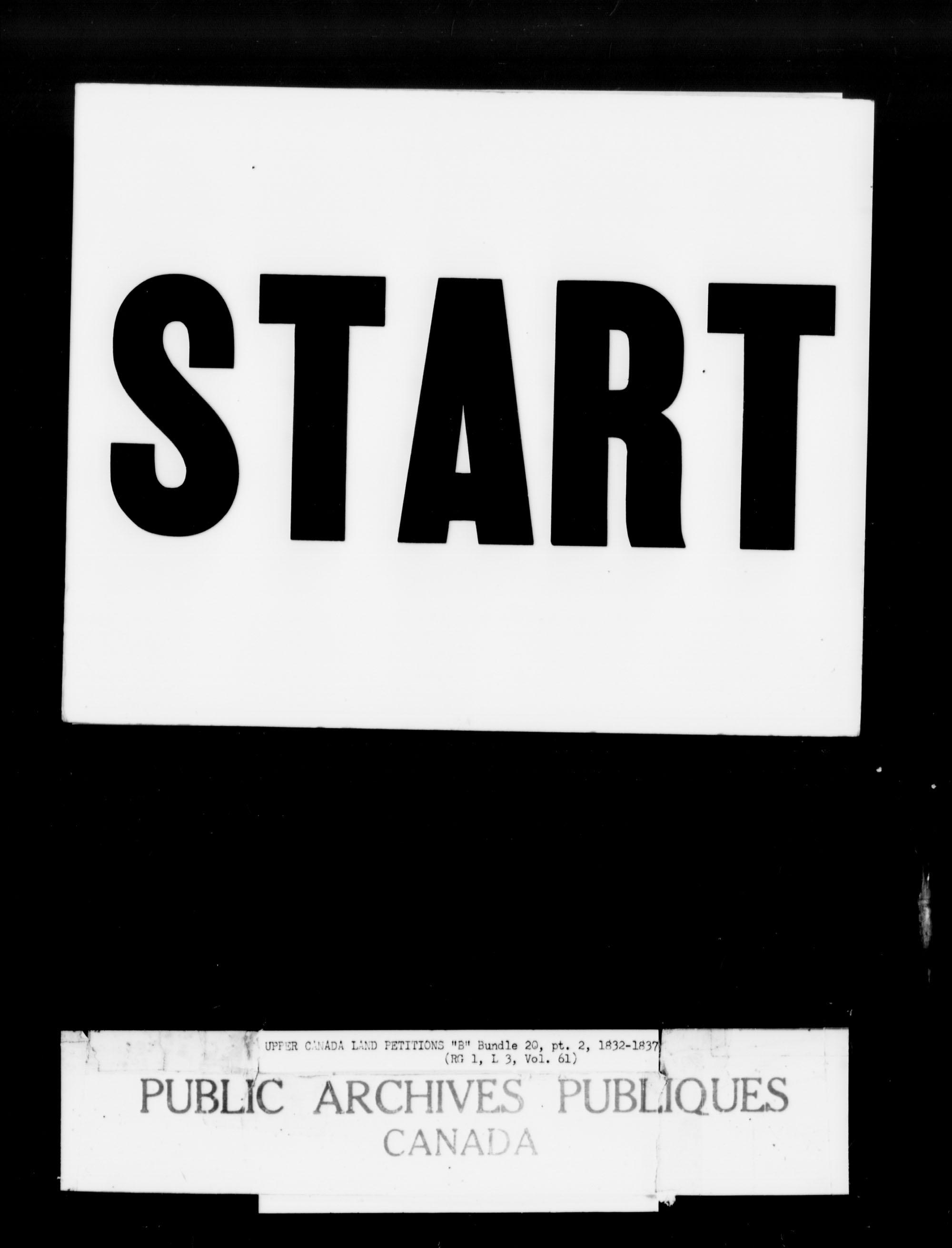 Titre: Demandes de terres du Haut-Canada (1763-1865) - N° d'enregistrement Mikan: 205131 - Microforme: c-1633