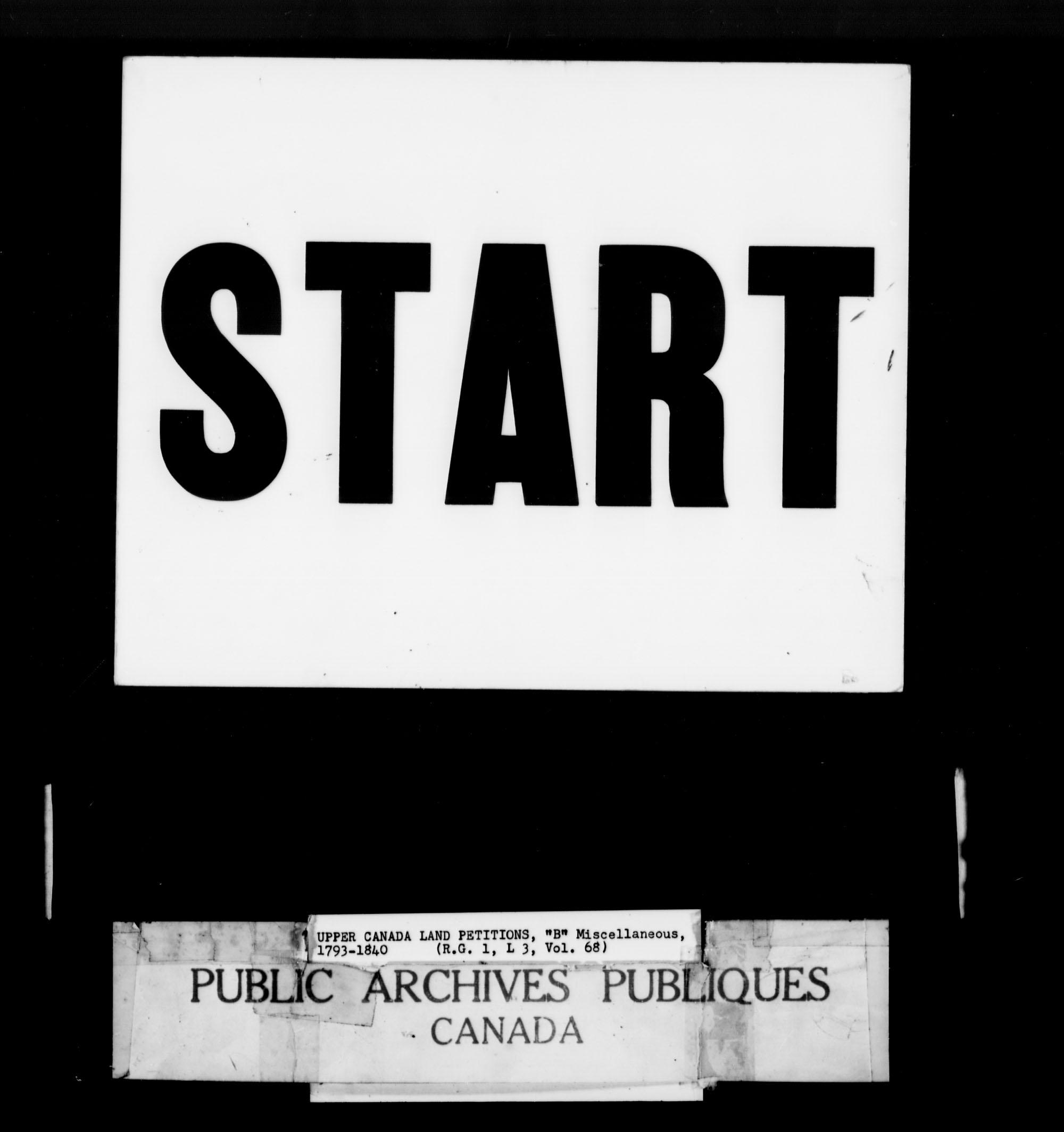 Titre: Demandes de terres du Haut-Canada (1763-1865) - N° d'enregistrement Mikan: 205131 - Microforme: c-1636