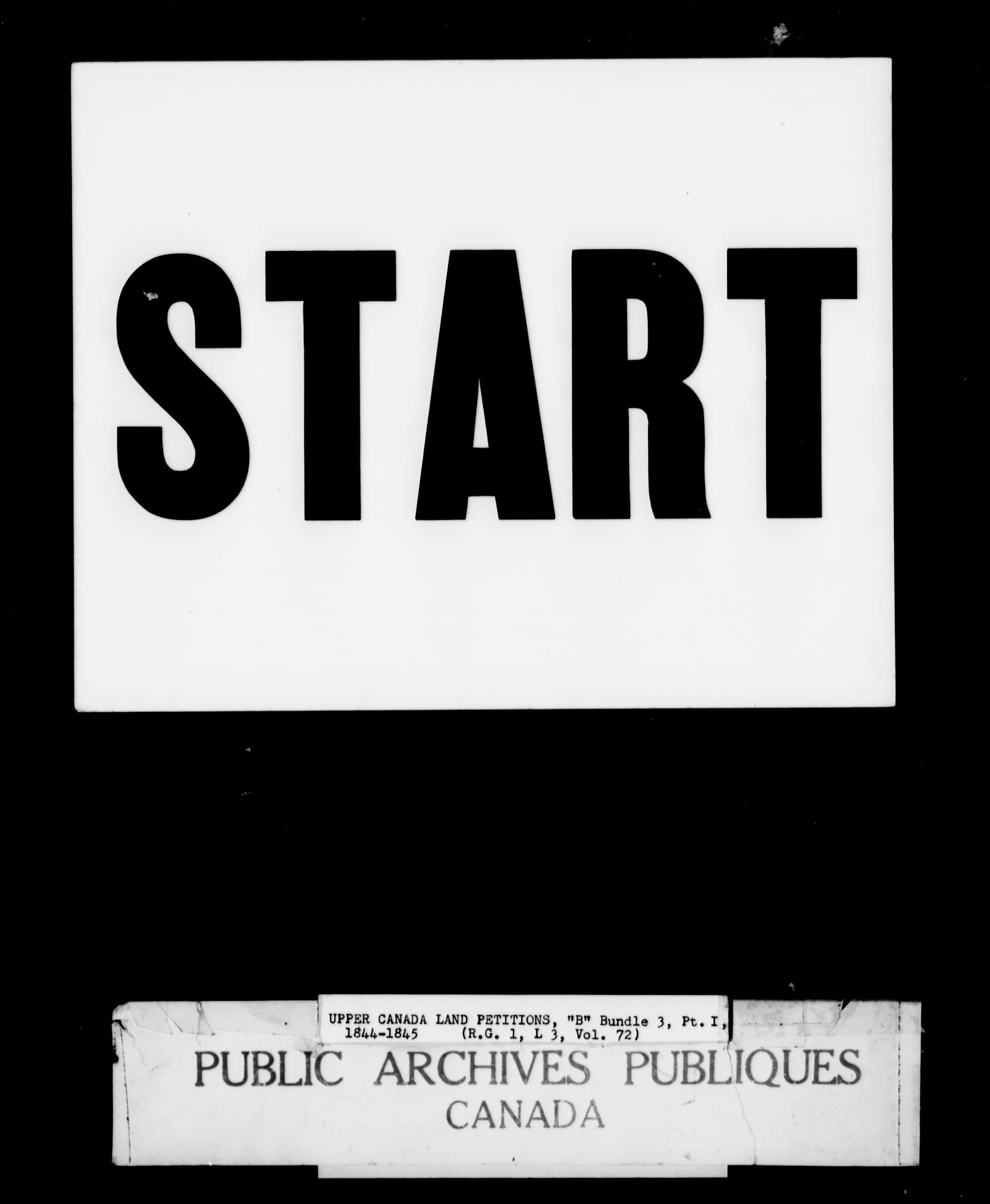 Titre: Demandes de terres du Haut-Canada (1763-1865) - N° d'enregistrement Mikan: 205131 - Microforme: c-1638