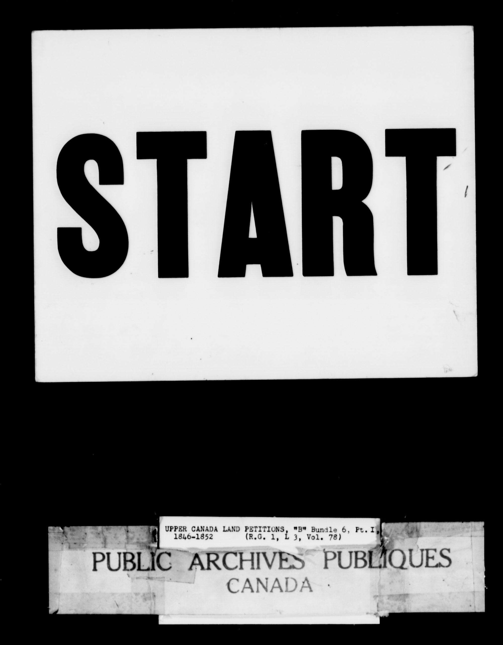 Titre: Demandes de terres du Haut-Canada (1763-1865) - N° d'enregistrement Mikan: 205131 - Microforme: c-1642