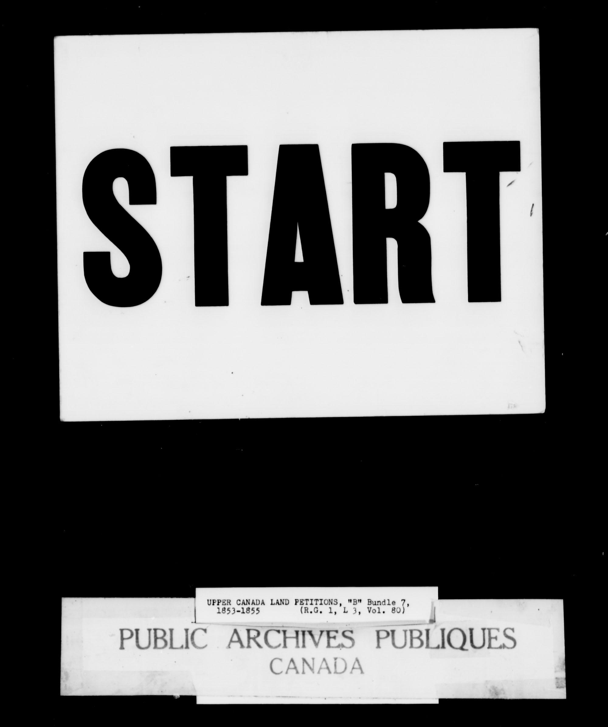 Titre: Demandes de terres du Haut-Canada (1763-1865) - N° d'enregistrement Mikan: 205131 - Microforme: c-1643