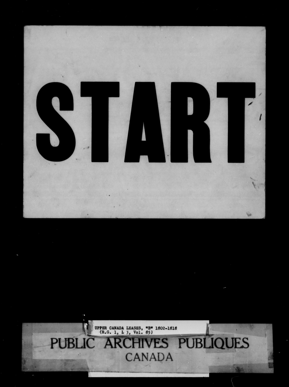 Titre: Demandes de terres du Haut-Canada (1763-1865) - N° d'enregistrement Mikan: 205131 - Microforme: c-1645