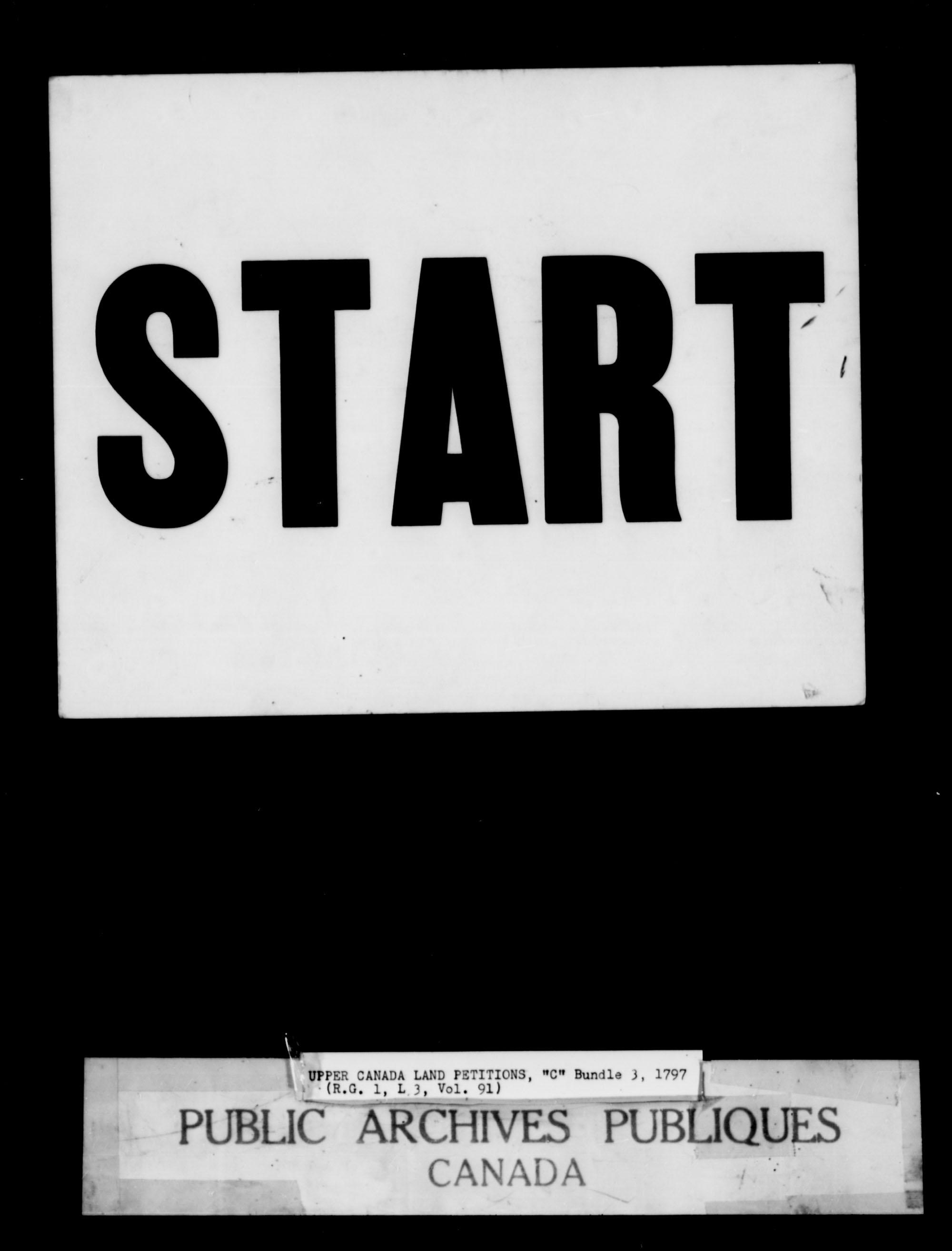 Titre: Demandes de terres du Haut-Canada (1763-1865) - N° d'enregistrement Mikan: 205131 - Microforme: c-1648