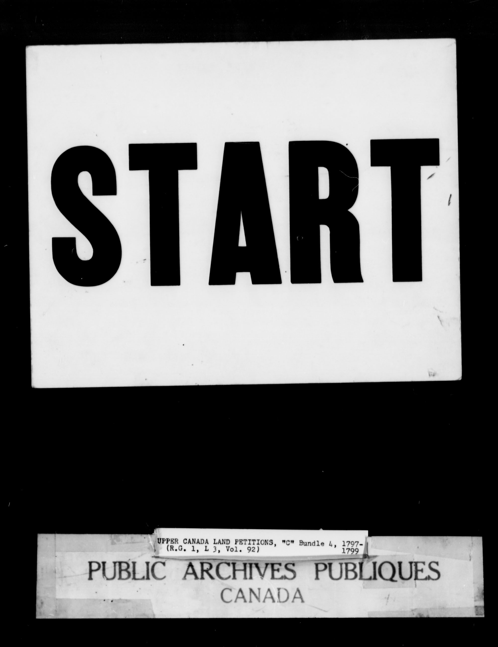 Titre: Demandes de terres du Haut-Canada (1763-1865) - N° d'enregistrement Mikan: 205131 - Microforme: c-1649