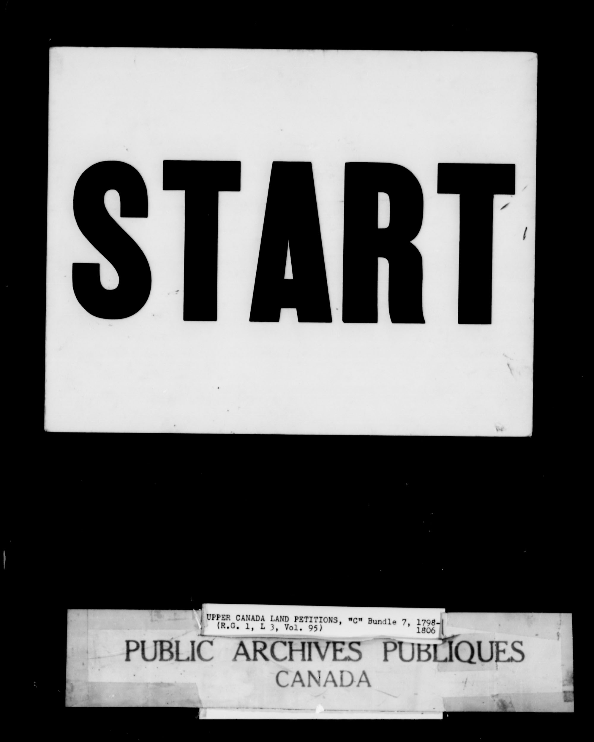 Titre: Demandes de terres du Haut-Canada (1763-1865) - N° d'enregistrement Mikan: 205131 - Microforme: c-1650