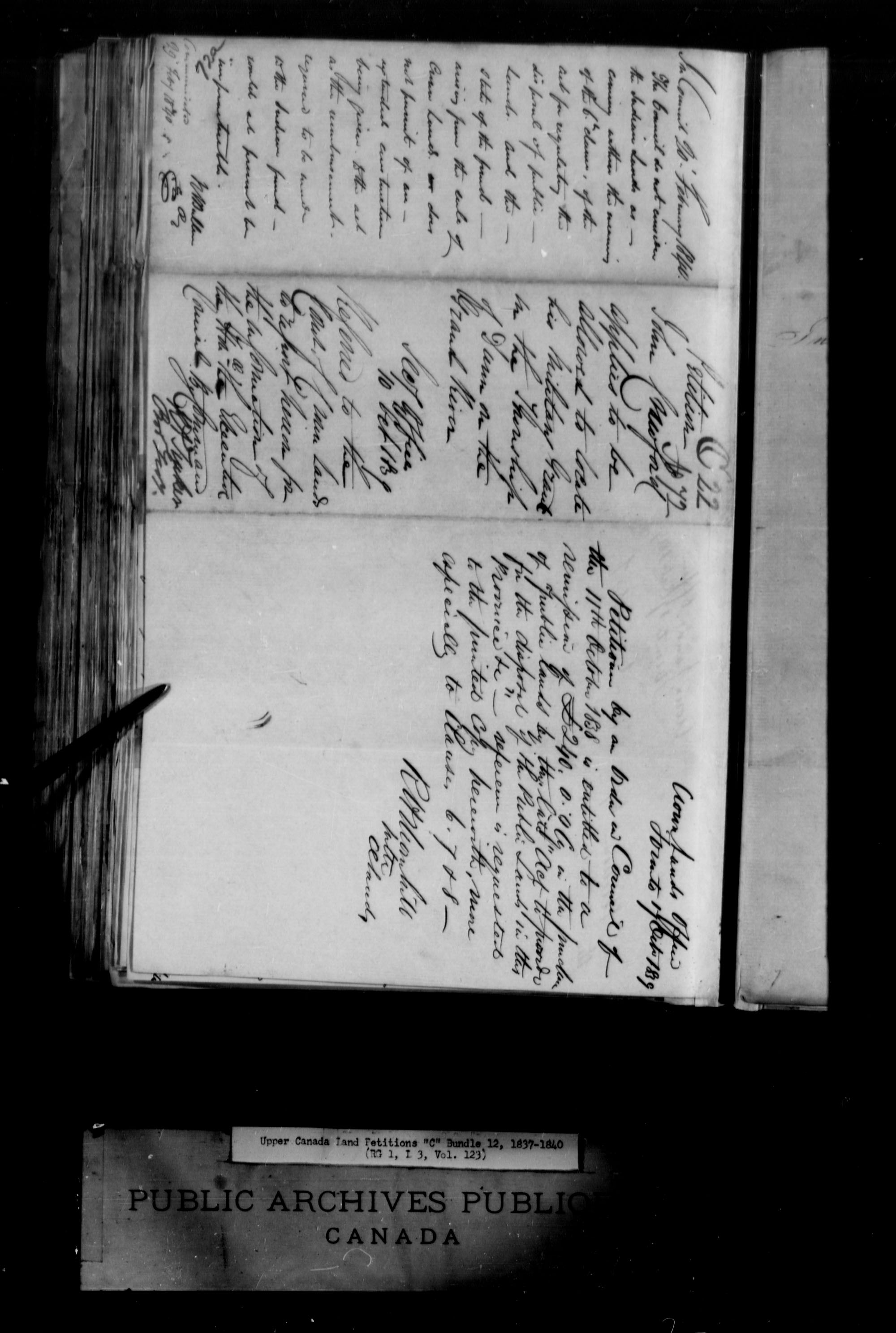 Title: Upper Canada Land Petitions (1763-1865) - Mikan Number: 205131 - Microform: c-1730