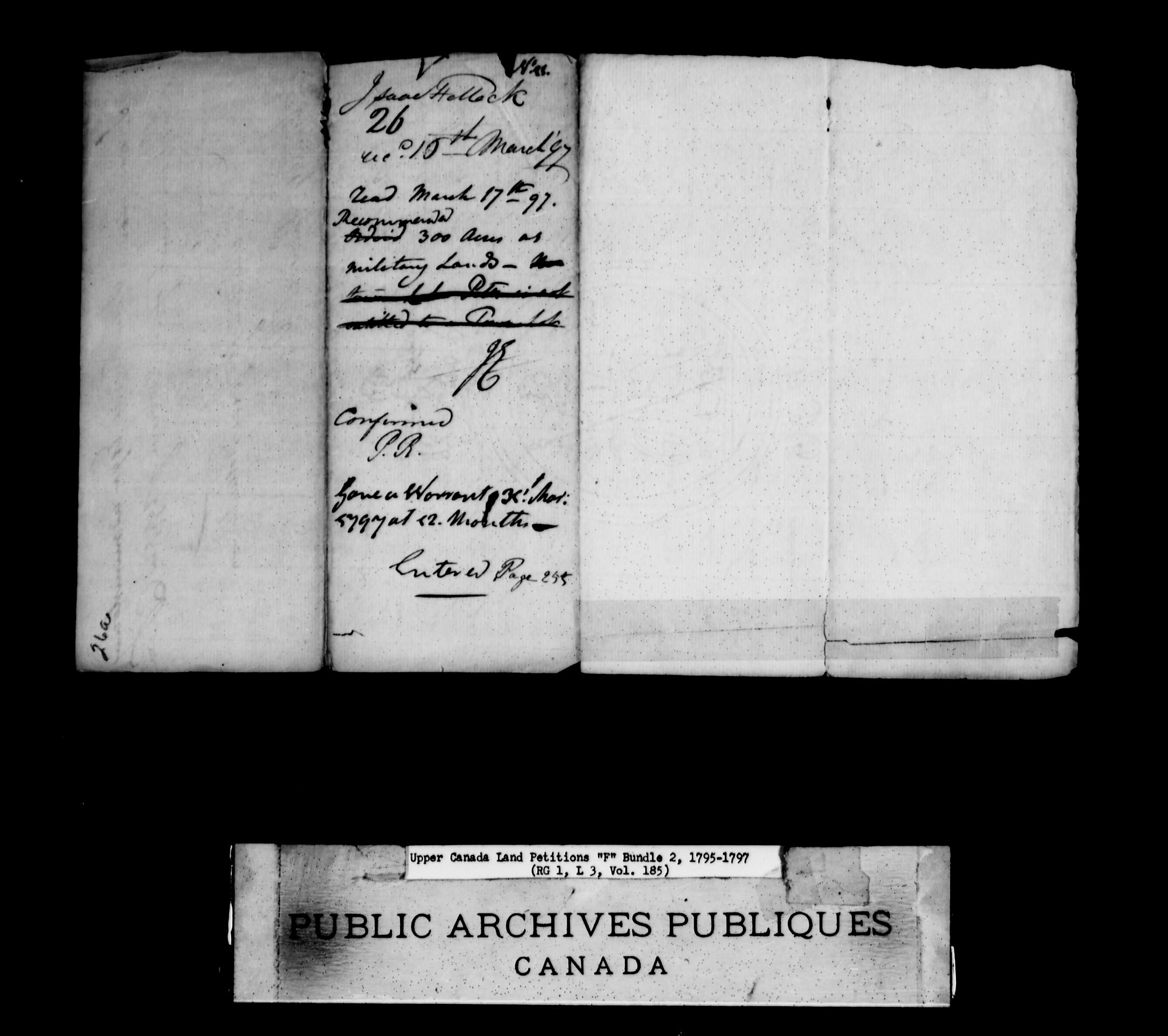 Title: Upper Canada Land Petitions (1763-1865) - Mikan Number: 205131 - Microform: c-1893