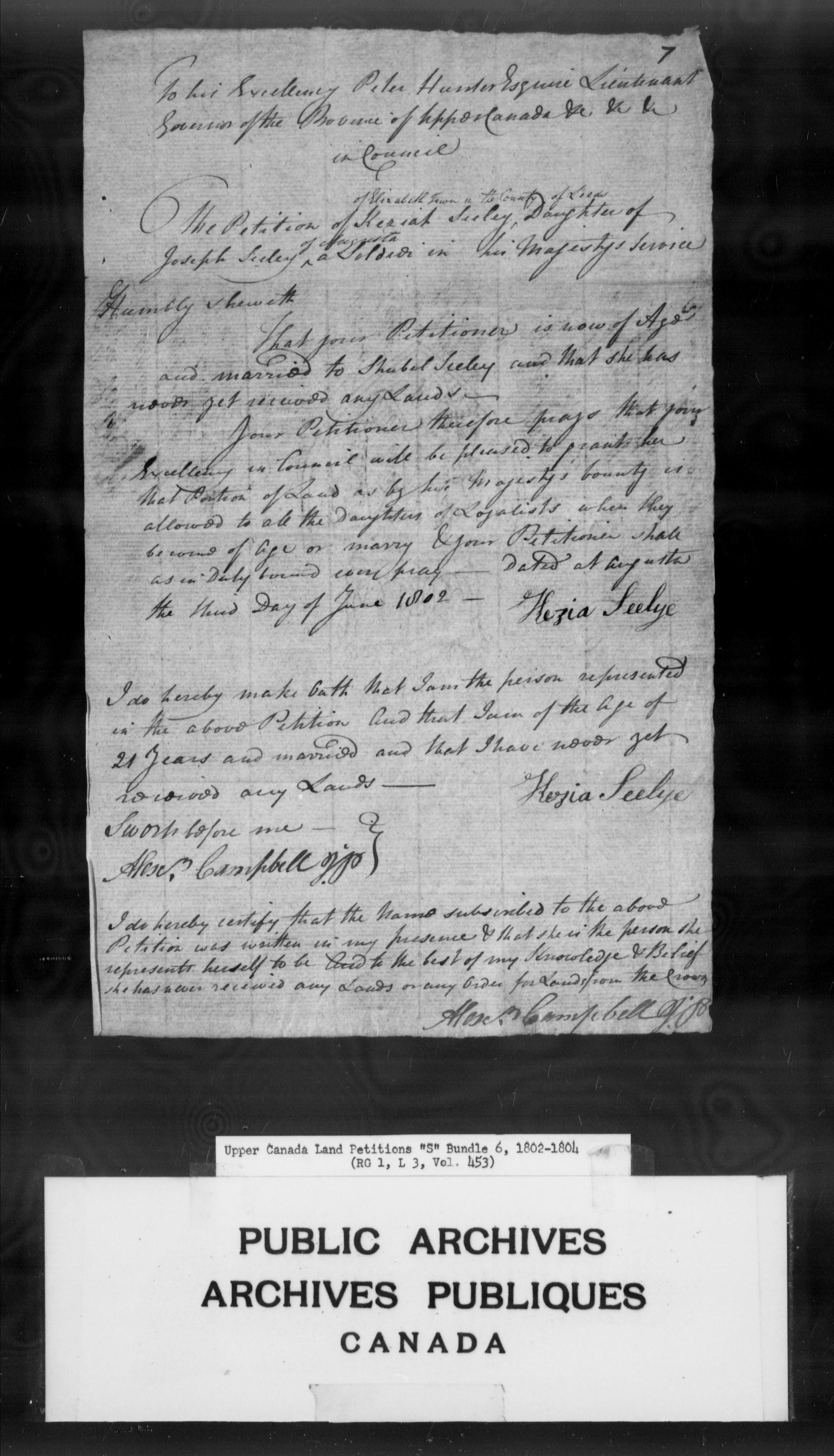 Title: Upper Canada Land Petitions (1763-1865) - Mikan Number: 205131 - Microform: c-2808